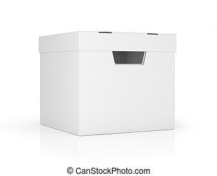 scatole, bianco, isolato, fondo, vuoto