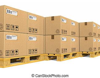 scatole cartone, accatastare
