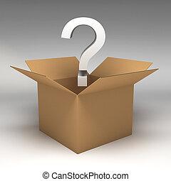scatole, cartone, illustrazione, 3d