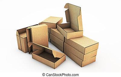 scatole, cartone
