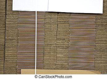 scatole, cartone, piegato