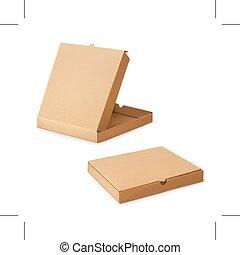 scatole, cartone, pizza