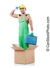 scatole, coveralls, uomo