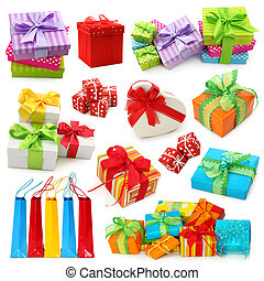 scatole, regalo, collezione