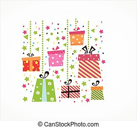 scatole, regalo