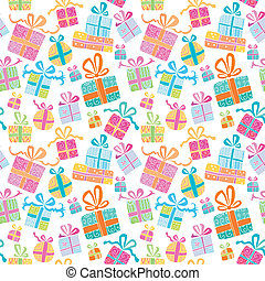 scatole, vettore, colorito, 2., regalo