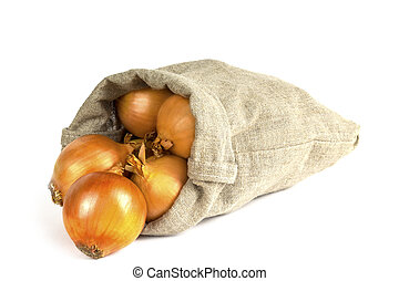 scatter the onion in the bag
