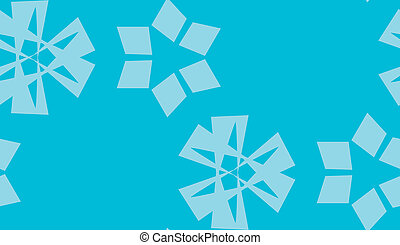 Scattered Blue Snowflake Background