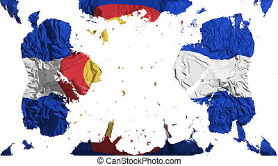Scattered Colorado state flag