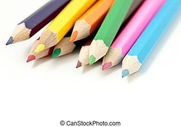 Scattered colored pencils