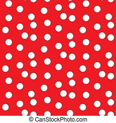 Scattered dots red polka background seamless pattern