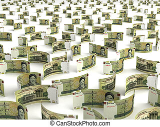 Scattered Iranian Rial