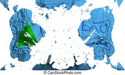 Scattered Juneau city capital flag - Scattered Juneau city, ...