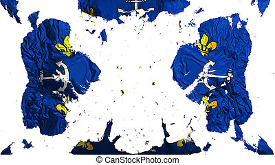 Scattered Port Louis city flag - Scattered Port Louis city, ...