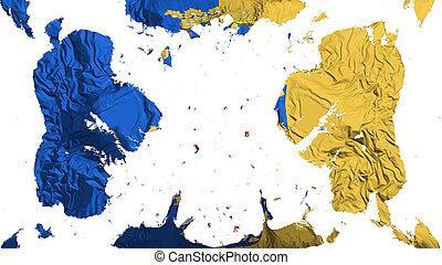 Scattered Santiago city flag - Scattered Santiago city,...