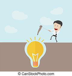 scavare, concetto, idea