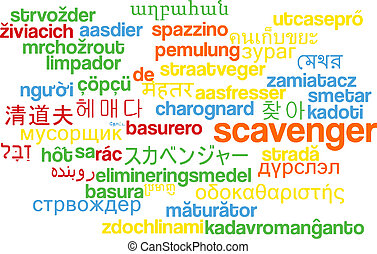 Scavenger multilanguage wordcloud background concept -...