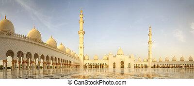 sceicco, zayed, moschea, grande