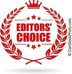 scelta, vettore, editors, icona
