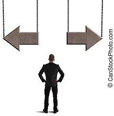 scelte, di, uno, uomo affari
