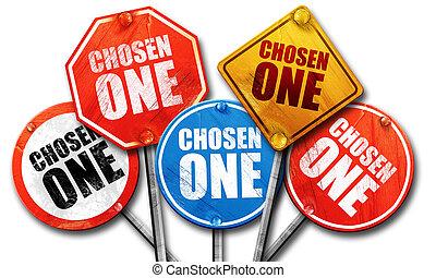 scelto, uno, interpretazione, segnali stradali, 3d