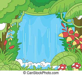 scena, foresta pluviale