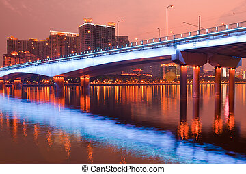 scena notte, ponte