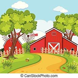 scena rurale, casa