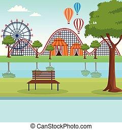 scenario, parco, divertimento