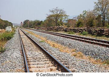 scenario, piste, ferrovia, fondo