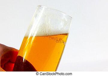 goblet with beer - scene air bladder in goblet with beer