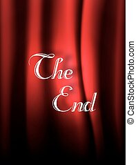 Scene cinema the end background. Movie ending screen background.Vector illustration