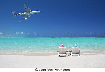 scene., exuma, strand, bahamas