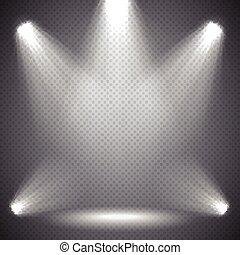 Scene illumination bright light.