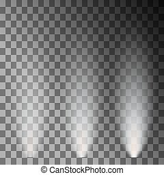 Scene illumination cold light effect