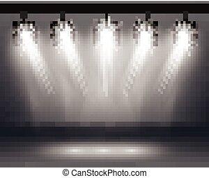 Scene Illumination Effects with Spotlights.