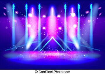 scene illumination show, bright lighting