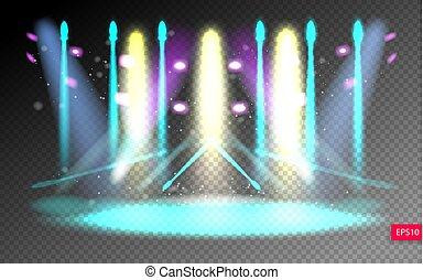 scene illumination show on transparency background