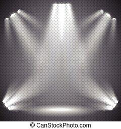 Scene illumination, transparent effects.
