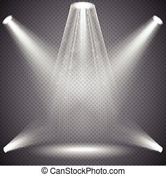 Scene illumination with light effects.