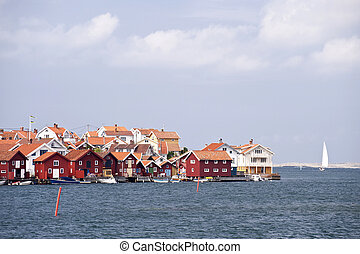 Gullholmen, Sweden - Scene in Gullholmen, Sweden