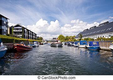 Copenhagen - Scene in the Port of Copenhagen