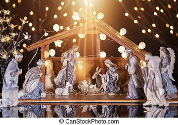 scene;, mary, キリスト, イエス・キリスト, ヨセフ, nativity, クリスマス