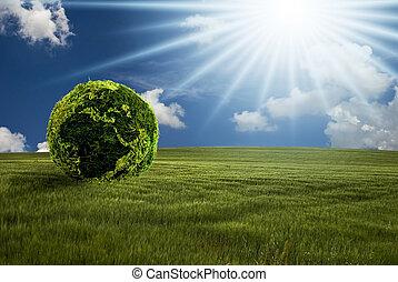 scene of a greener world