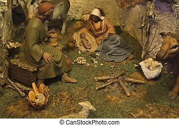 Scene of christmas crib