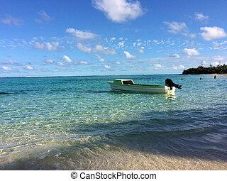 Scene of Mystery Island, Aneityum, Vanuatu.