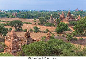 scene of old Bagan, Burma