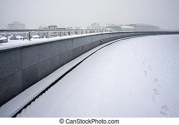 scene., urbano, invierno