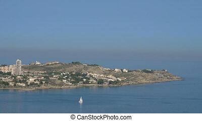 Scene with Alicante coast and Mediterranean Sea. - View to...