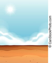Scene with desert and blue sky